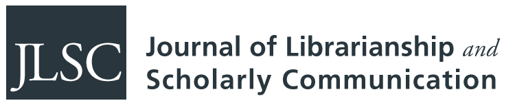 Journal of Librarianship and Scholarly Communication wordmark logo